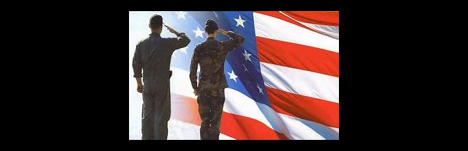 SOLDIERS SALUTE FLAG